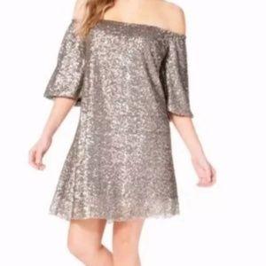 Charming Charlie Dresses - 4/$25 Charming Charlie gold sequins shift dress